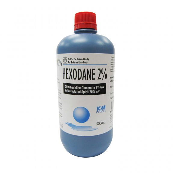Hexodane 2% in Methylated Spirit, 500mL